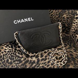 Chanel XL Caviar Leather Zippy Wallet Purse Pouch